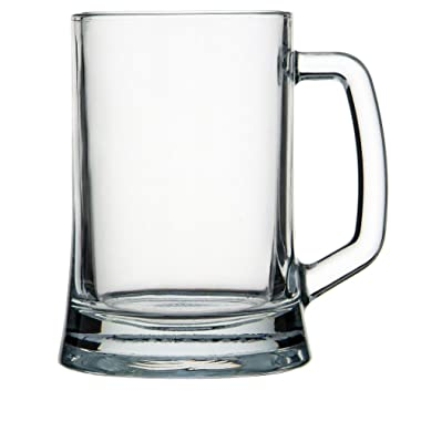 Circleware 55665 Tavern Handle, Set of 2 Beer Mugs, Huge 22 Ounce Glasses, Kitchen Glassware 2-pc. Set for Water, Coffee, Wine, Whiskey and Best Selling Beverage Drinks, 22-oz, Clear