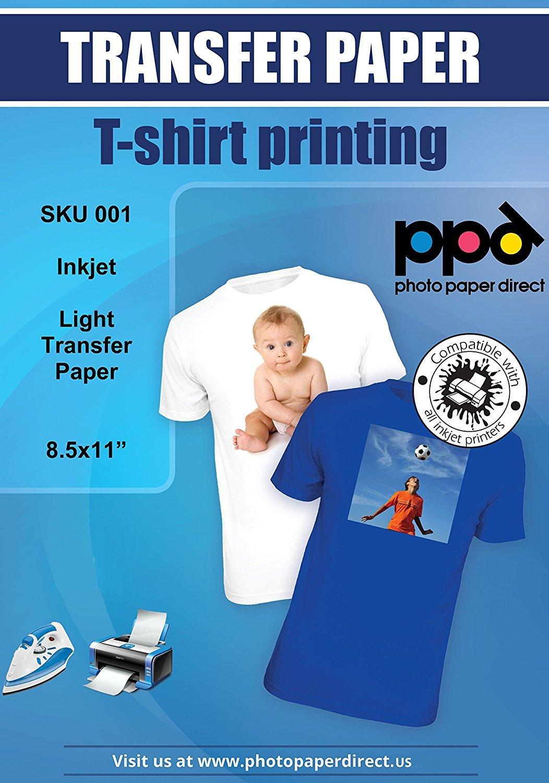 x Papel de transferencia de tinta A para camisetas de blancas y