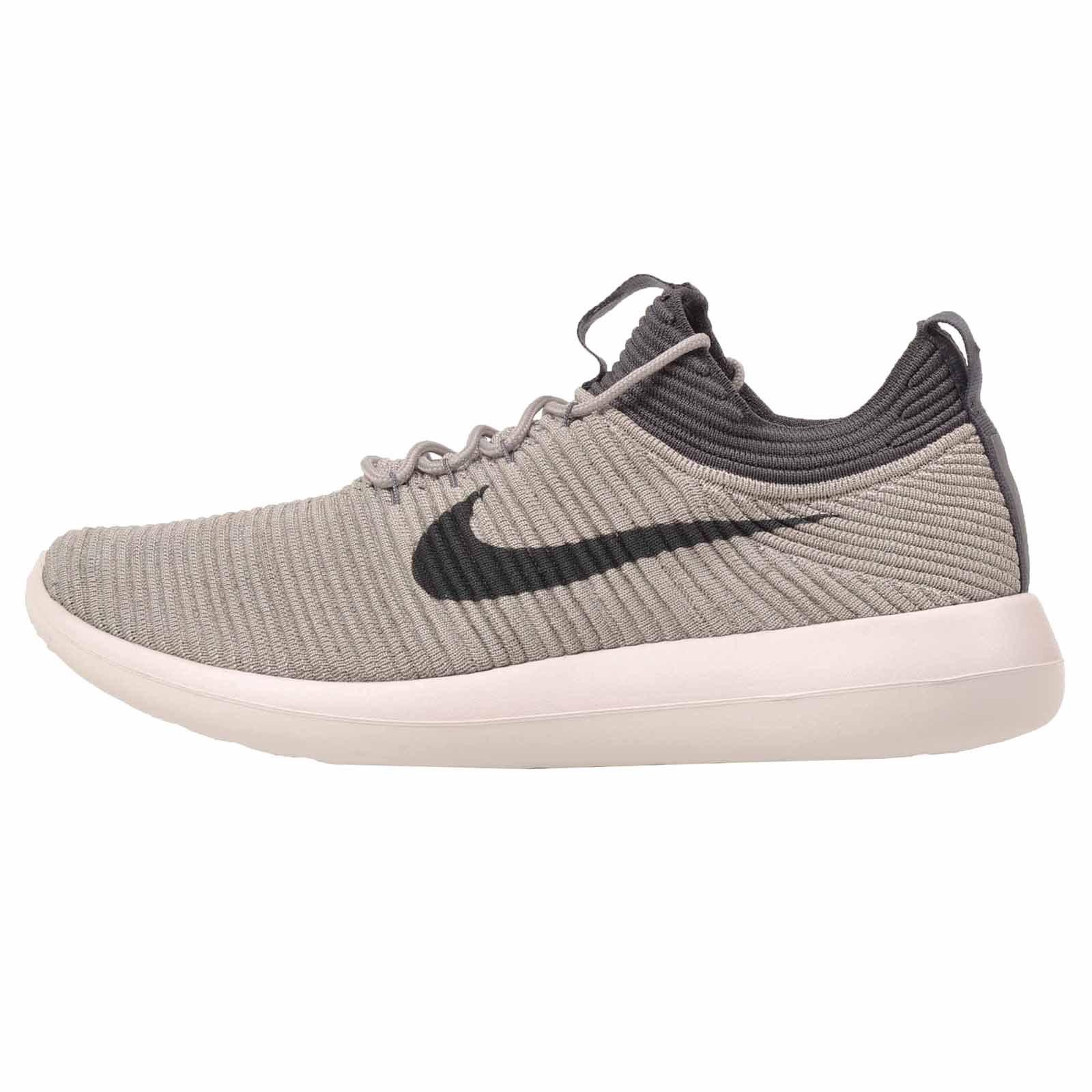 meet 5e851 cda44 Nike Roshe Two Flyknit V2 Pale Grey Women's Running Training Shoes Size 10