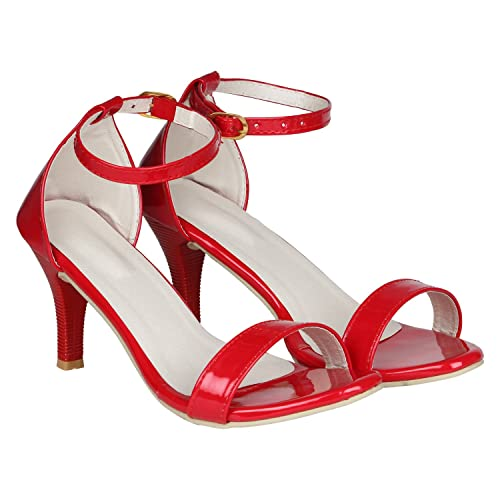 4dd5a48a5e7537 MISTO Vagon Women and Girls Formal and Casual Patent Leather Pencil Heel  Sandal  Buy Online at Low Prices in India - Amazon.in