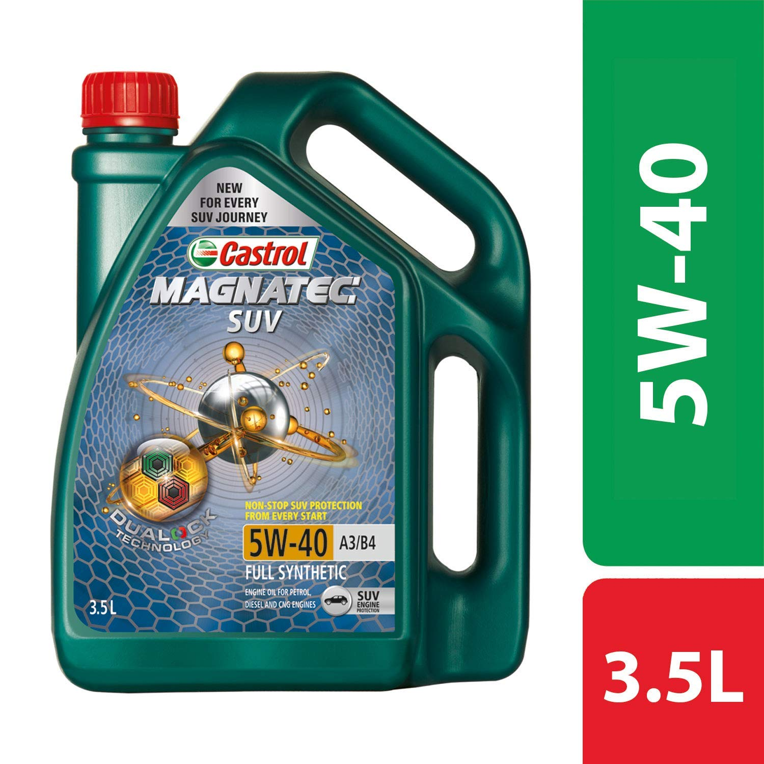 Castrol - 3421148 MAGNATEC SUV 5W-40 Full Synthetic Engine Oil for Petrol, CNG and Diesel SUVs (3.5L)