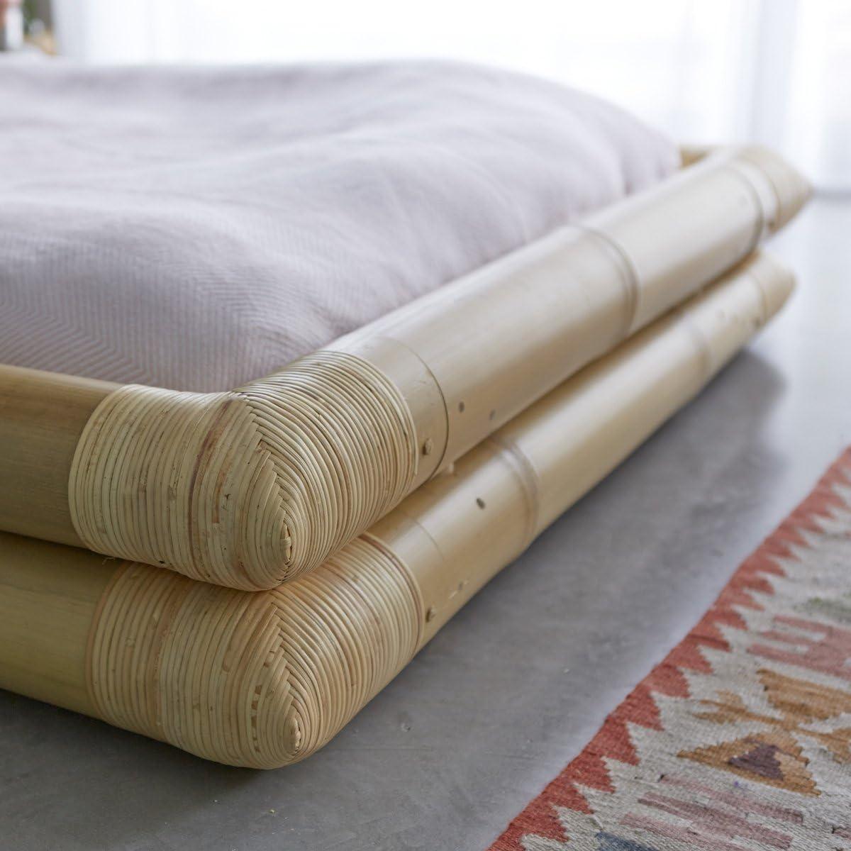 Tikamoon 2216 Balyss Cama futón bambú Beige 116 x 216 x 36 cm ...