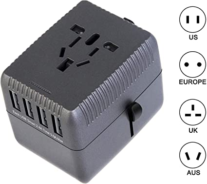 Travel Adapter Universal Worldwide All in One Power Adapter AC Plug Converter