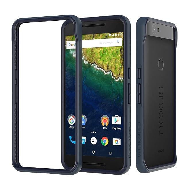 newest 90ff3 08698 Case for Nexus 6P [CrashGuard] | Shock Absorbent Slim Design Protective  Cover [3.5M / 12ft Drop Protection] - Dark Blue