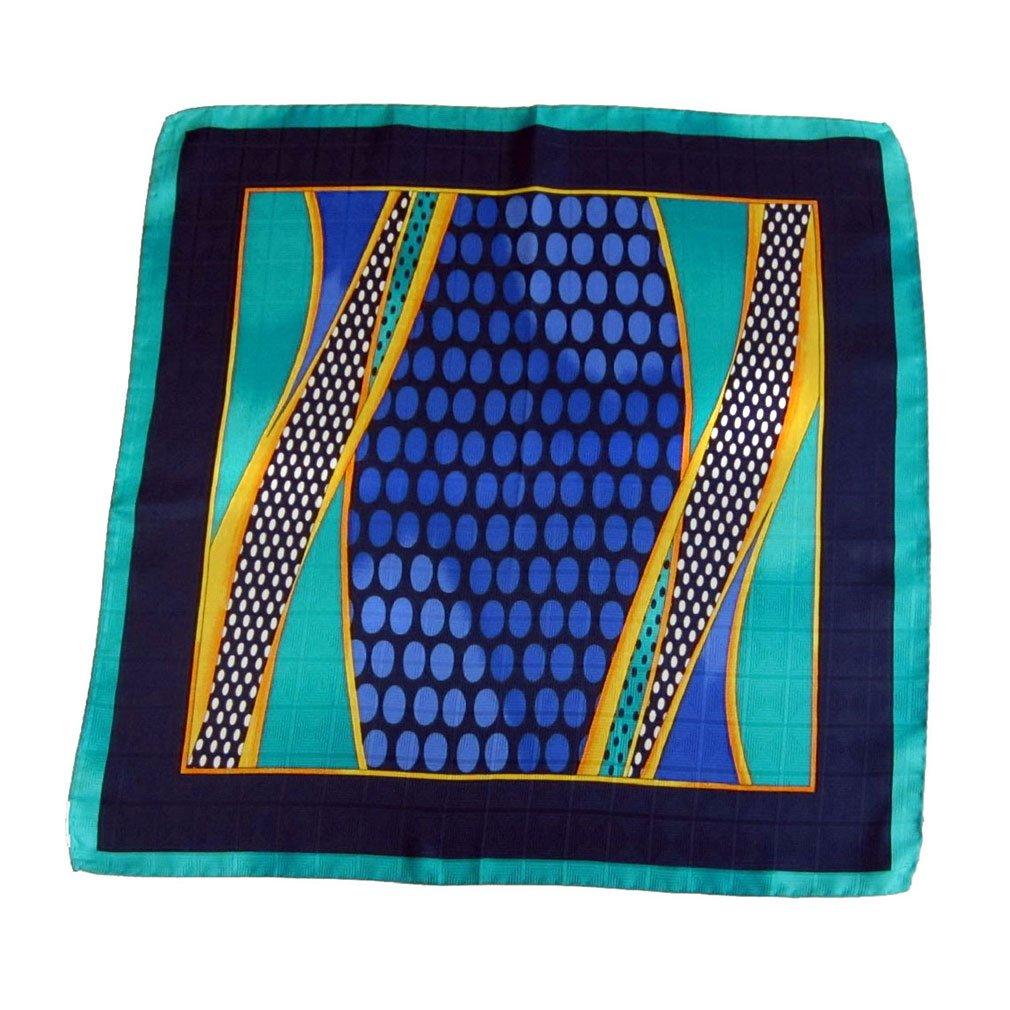 Blue Green Silk Pocket Square