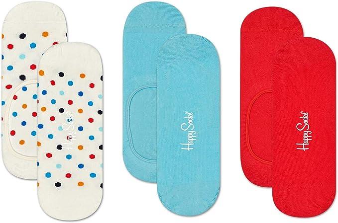 Happy Socks 3-pack Multi Dot Liner Sock Calcetines, Multicolor (Multicolour 170), 7-10 (Talla del fabricante: 41-46) (Pack de 3) para Hombre: Amazon.es: Ropa y accesorios