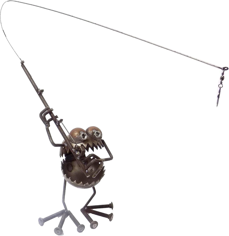 Sugarpost Gnome Be Gone Medium Bobby Welded Scrap Metal Art Sculpture #2005