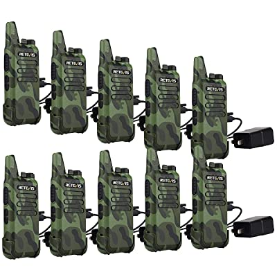 Retevis RT22 Two Way Radios Rechargeable FRS UHF 16 Ch VOX Emergency Alarm Lock VOX Security Commercial Walkie Talkies for Adults (10 Pack): Car Electronics