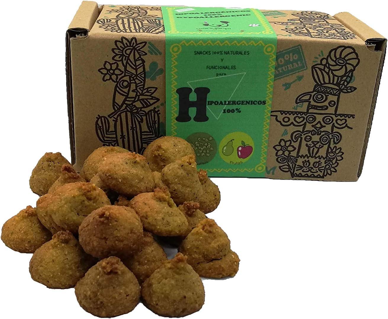 Waniyanpi Snacks 100% Hipoalergénicos para Perros con alergias alimentarias. Elaborados con Fruta y Zanahoria- 200g: Amazon.es: Productos para mascotas