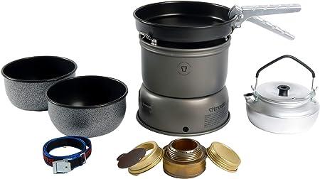 Trangia Set de hornillo 27-6 Antiadherente de Aluminio anodizado 2019 Hornillos de Camping