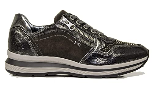 Sneaker NeroGiardini A806572-105 6572 Scarpe Sportive Nere Donna con  Cerniera 38 b475d498a45