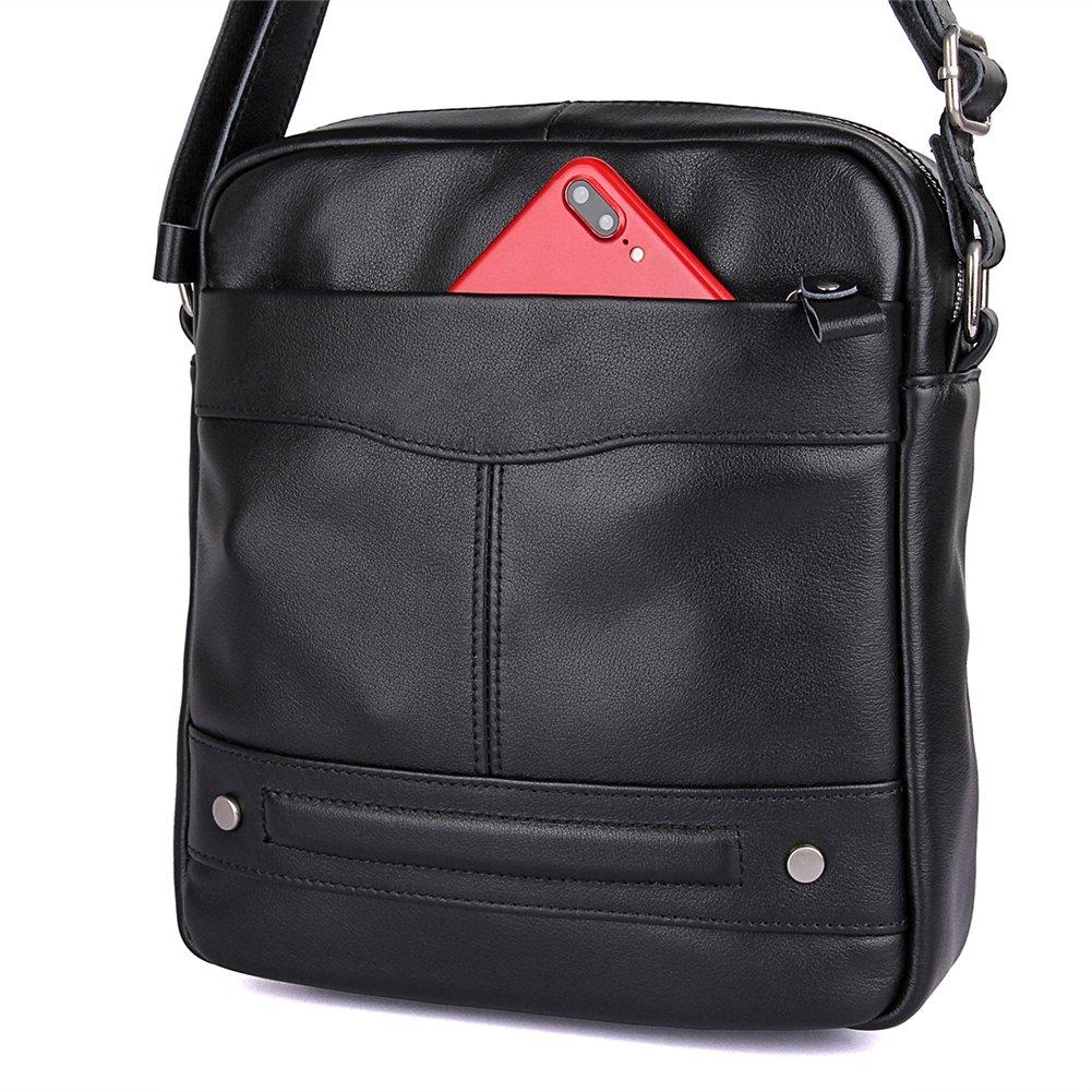 Genda 2Archer Mens Small Leather Shoulder Messenger Bag Cross body Purse Work Bag