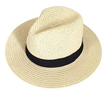 3dea30ad1f7932 Women Wide Brim Roll up Straw Hat Fedora Panama Beach Cap for Sun  Protection Summer Outdoors UPF50+: Amazon.ca: Sports & Outdoors