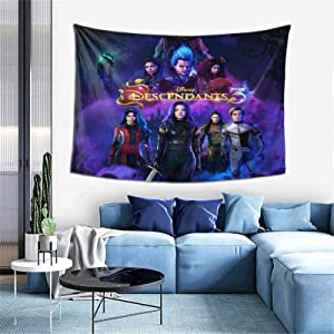 Descen-Dants 3 Tapestry Wall Hanging For Living Room Bedroom Dorm Room Home Decor 60 X 40inch