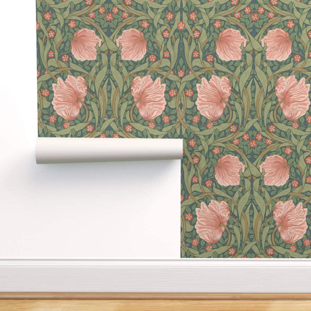 Peel And Stick Removable Wallpaper Floral Victorian Garden