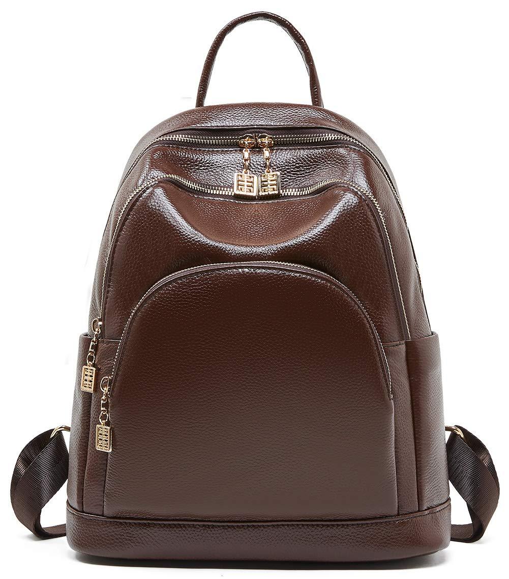 BOYATU Genuine Leather Backpack Purse for Women Elegant Travel Shoulder Bag