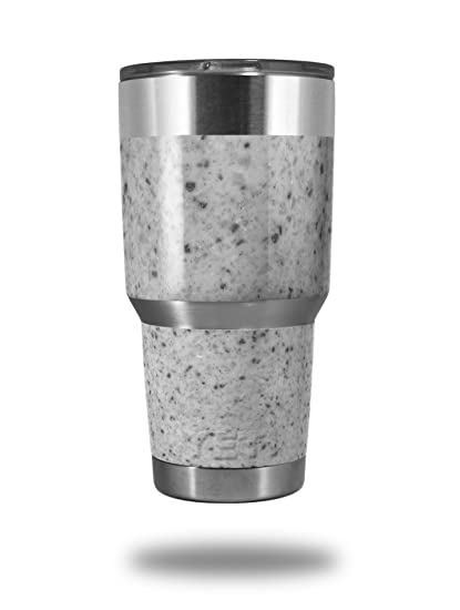 ab59c318f2c Amazon.com : Skin Decal Wrap for Yeti Tumbler Rambler 30 oz Marble Granite  10 Speckled Black White (TUMBLER NOT INCLUDED) : Everything Else