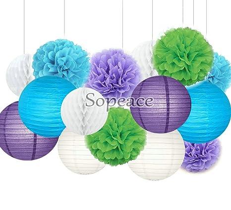 sopeace Kit de decoración para fiestas, color morado azul ...