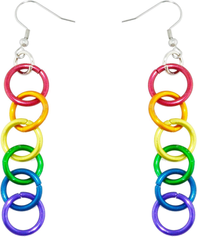 Ace Pride Beaded Silver Earrings