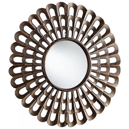40 inch round mirror white round wall cyan design agoura 40 inch round mirror amazoncom mirror home kitchen