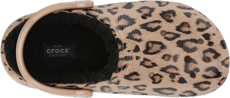 leopard lined crocs