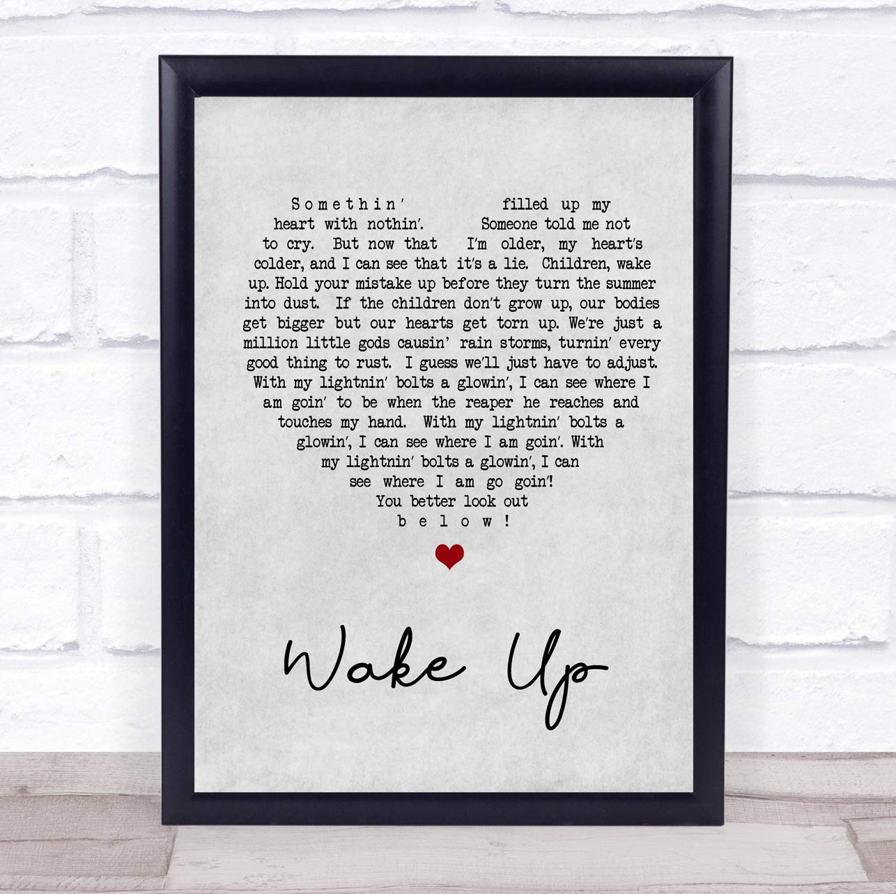 Amazon.com: Arcade Fire Wake Up Grey Heart Song Lyric Print ...