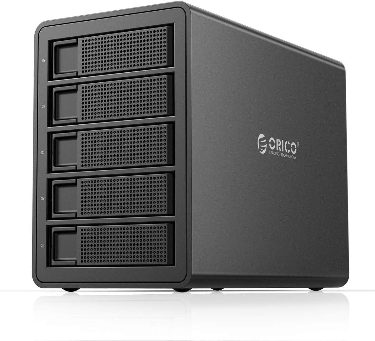 ORICO Disco Duro de 5 bahías para Disco Duro SATA HDD/SSD de 2.5 ...