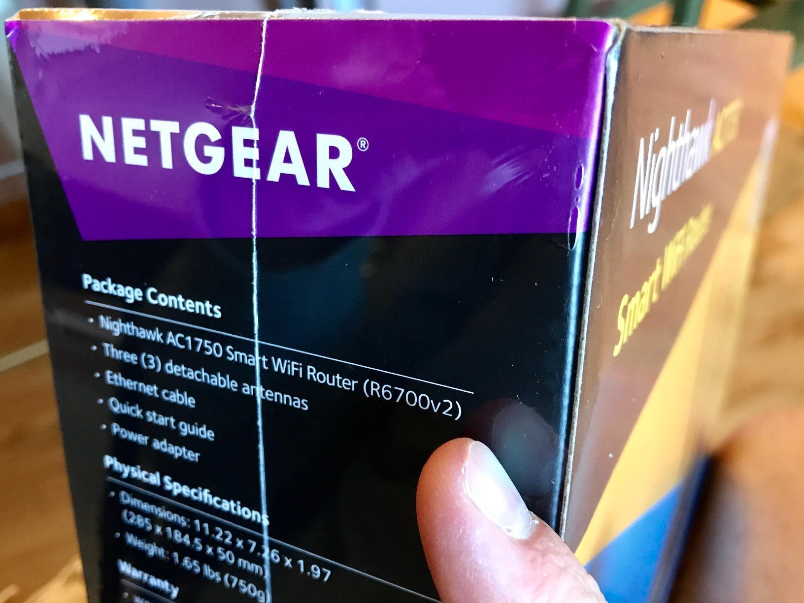 NETGEAR Nighthawk Smart WiFi Router (R6700) - AC1750 Wireless Speed