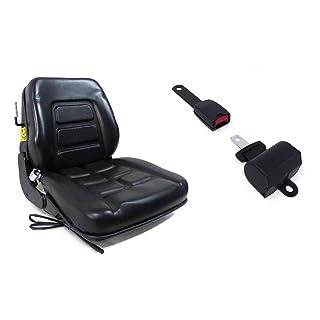 Asiento con molleggio integrado + Cinturón con arrotolatore para tractor cingolato y carro elevador Cod. 38026 Laversud
