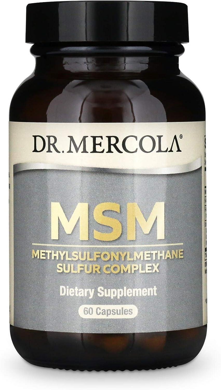 Dr. Mercola, MSM Methylsulfonylmethane Sulfur Complex Dietary Supplement, 30 Servings (60 Capsules), Non GMO, Soy Free, Gluten Free