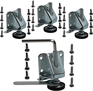 HUAYY Heavy Duty Furniture Leveler Legs 2 Inch Height Adjustable feet and Hexagon Nuts Lock(4 Pack)