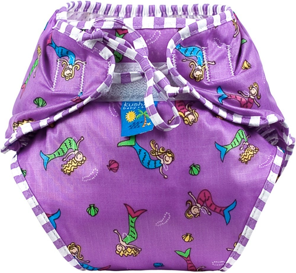 Kushies Baby Unisex Swim Diaper, Mermaids
