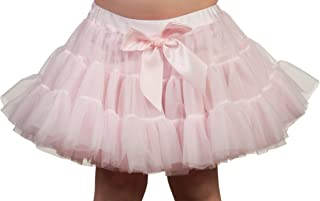 product image for Laura Dare Baby Girls Solid Color Petti Skirt Tutu with Built-in Panties