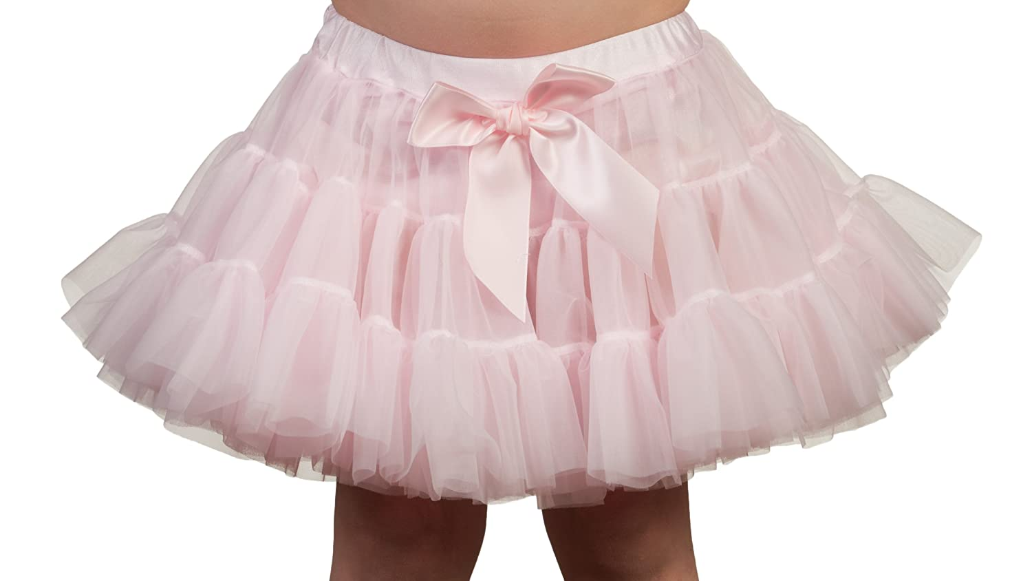 Laura Dare Baby Girls Solid Color Petti Skirt Tutu With Built-In Panties