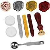 Stamp Seal Sealing Wax Vintage retro classic, NetBoat Antique Wax Seal Stamp Kit Set with Gold Red Silver Sticks creative stamp production suite (For You) by NetBoat