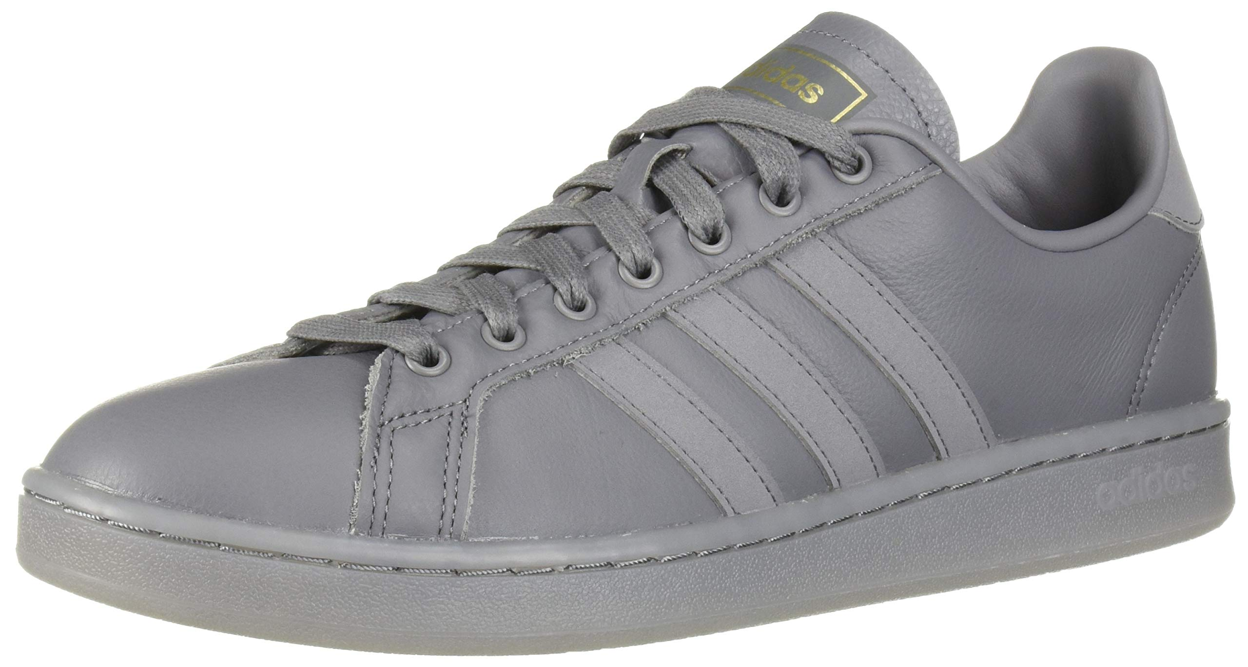 adidas Men's Grand Court Sneaker, Grey/Matte Gold, 7 M US