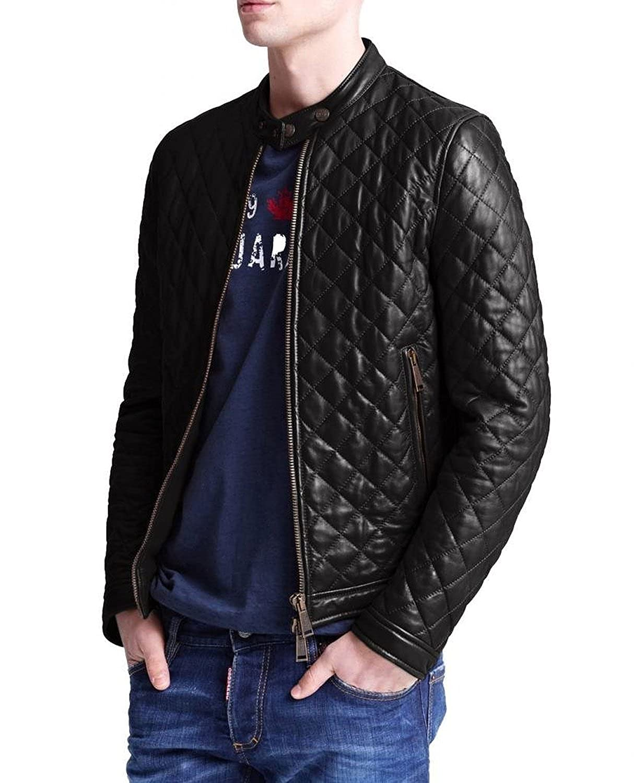 Laverapelle Men's Lamb Skin Real Leather jacket Black - 1510547