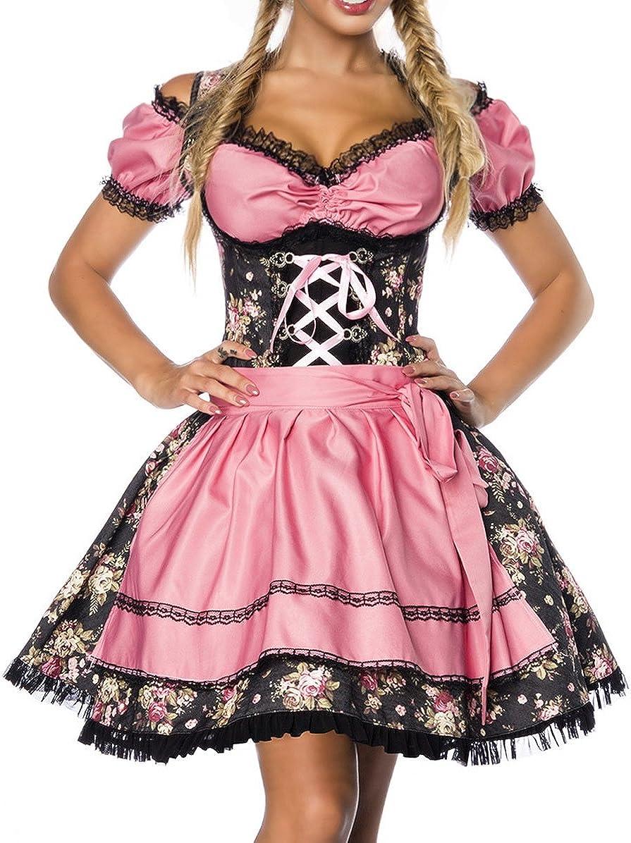 Yourdesignerz Tirolesa Vestido Disfraz con Blusa y Delantal de ...