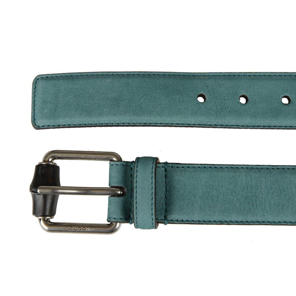 861b5889f Amazon.com: Gucci Men's Blue Nubuck Leather Belt: Clothing