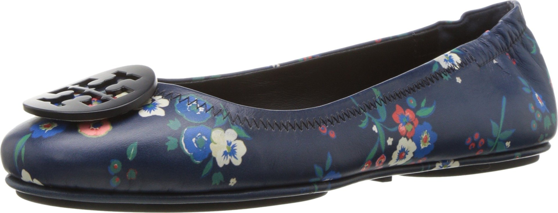 Tory Burch Minnie Travel Floral Print Lether Ballet Flat Size 8 by Tory Burch (Image #1)