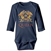 Queen Band Logo Brian May Baby Onesie Bodysuit Toddler Clothes Longsleeve
