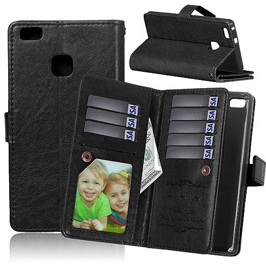 5 opinioni per Custodia per Huawei P9 LITE, [Cavo gratuito][Photo Frame][borsetta] Stand, PU