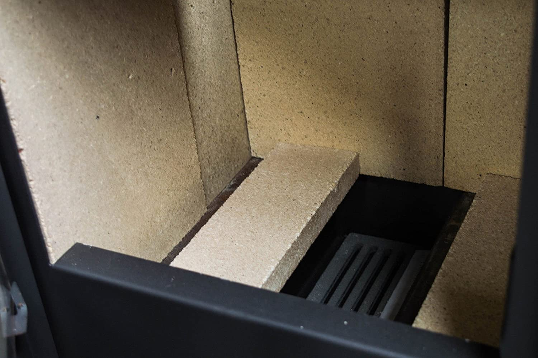 Estufa de le/ña//chimenea para calefacci/ón kupro directa elegancia con tapa de acero