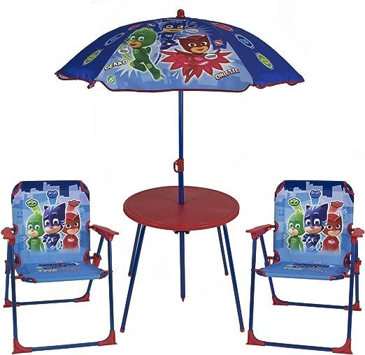 PJ: Máscaras para niños, 2 sillas y sombrilla al Aire Libre, jardín, Patio: Amazon.es: Jardín