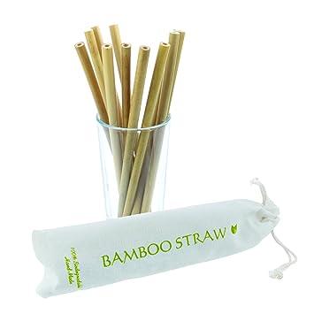 Boostraw Wiederverwendbare Bambus Trinkhalme Bpa Frei Okologische