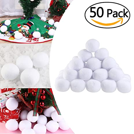 Amazon.com: Tinksky Artificial Soft Throwable Snow Fight Snowballs ...