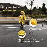 HAPIU Kids Toddler Rain Suit Muddy Buddy Waterproof Coverall,Yellow,5T,Original