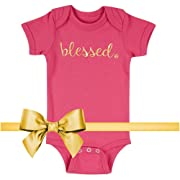 3c609d783 Fayfaire Baptism Gifts Christening Outfit: Boutique Quality Blessed 6-12M