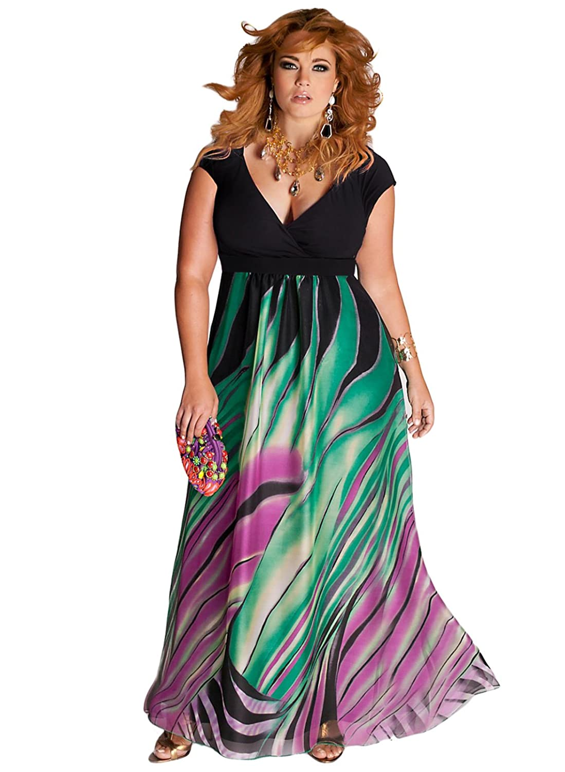 IGIGI Women\'s Plus Size Rainforest Paradise Maxi Dress 12 at ...