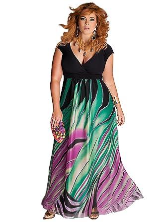 IGIGI Women's Plus Size Rainforest Paradise Maxi Dress 12 at ...